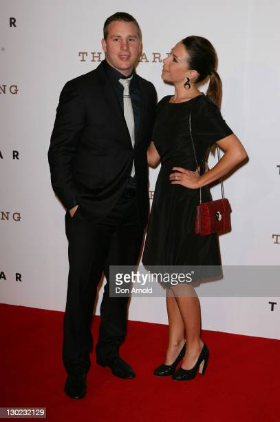 Stuart Webb and Kate Ritchie arrive at The Star Opening Party on October 25, 2011 in Sydney, Australia.