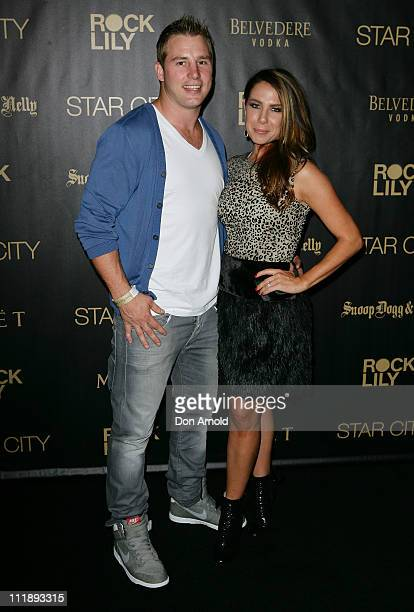 Stuart Webb and Kate Ritchie arrive for the exclusive Star City show by Snoop Dogg and Nelly at Star City on April 8, 2011 in Sydney, Australia.