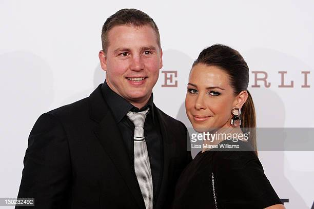 Stuart Webb and Kate Ritchie arrives at The Star Opening Party on October 25, 2011 in Sydney, Australia.