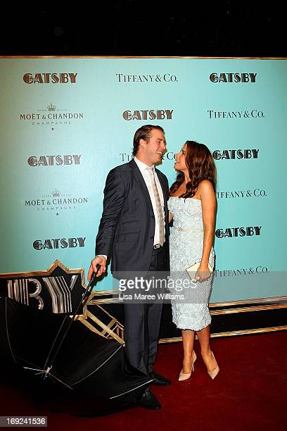 Stuart Webb and Kate Ritchie attend the 'Great Gatsby' Australian premiere at Moore Park on May 22, 2013 in Sydney, Australia.