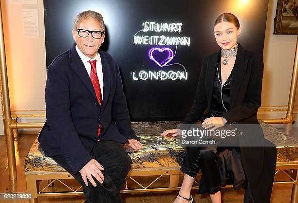 Stuart Weitzman and Gigi Hadid attend a private dinner hosted by Stuart Weitzman and Gigi Hadid to celebrate the opening of the Stuart Weitzman...