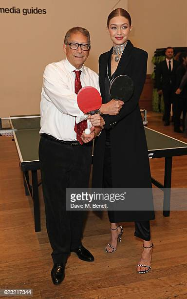 Stuart Weitzman and Gigi Hadid attend Stuart Weitzman's private VIP dinner at Royal Academy of Arts to celebrate opening of it's London flagship...