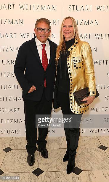 Stuart Weitzman and Susan Duffy attend Stuart Weitzman's private VIP dinner at Royal Academy of Arts to celebrate opening of it's London flagship...