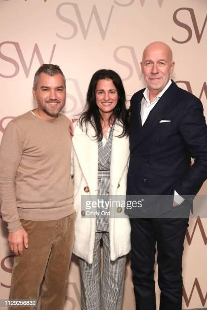 Stuart Weitzman Head of Design Edmundo Castillo CEO and President of Kate Spade New York Anna Jain Bakst and Stuart Weitzman CEO Eraldo Poletto...