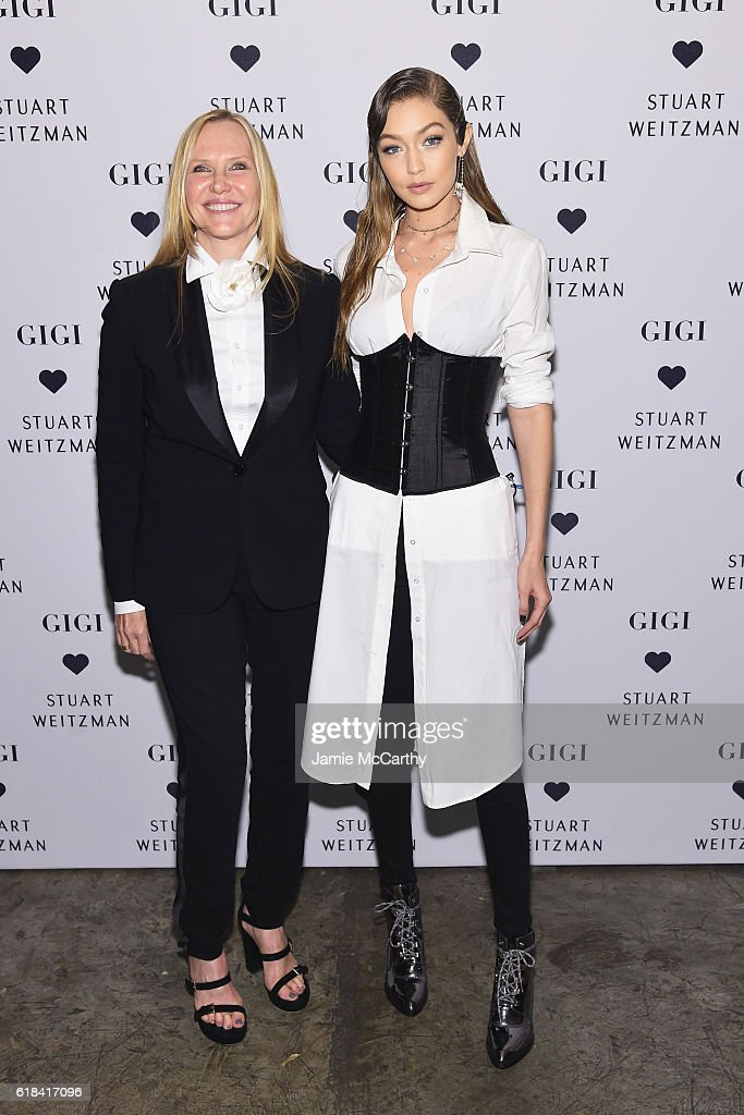 Stuart Weitzman's Susan Duffy and Gigi Hadid attend Stuart Weitzman's Launch of the Gigi Boot on October 26, 2016 in New York City.