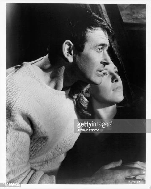 Stuart Whitman and Joanne Woodward publicity portrait for the film 'Signpost To Murder' 1964