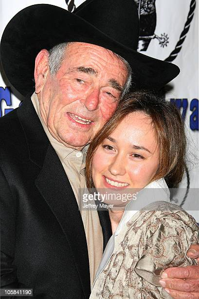Stuart Whitman and wife Julia during The Motion Picture and Television Fund's 24th Golden Boot Awards - Arrivals at The Beverly Hilton Hotel in...