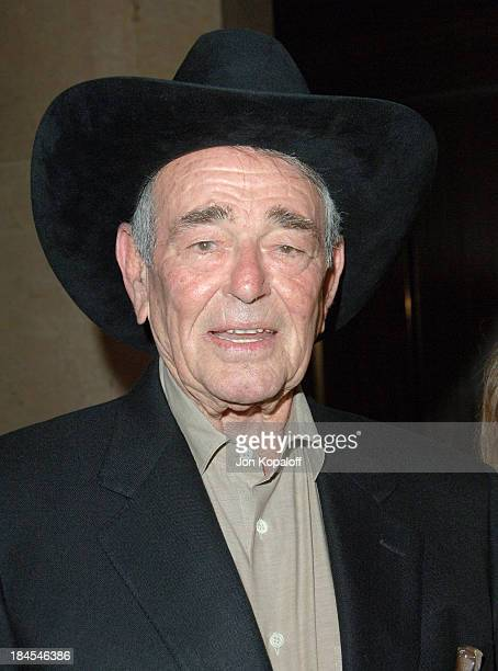 Stuart Whitman during The Motion Picture and Television Fund's 24th Golden Boot Awards Arrivals at The Beverly Hilton Hotel in Beverly Hills...