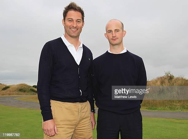 Stuart Wilson and Alasdair Dunn of Eastwood Golf CLub pictured after winning the Virgin Atlantic PGA National ProAm Championship Regional Final at...