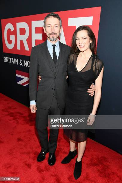 Stuart Wilson and Victoria Wilson attend the Great British Film Reception honoring the British nominees of The 90th Annual Academy Awards on March 2...