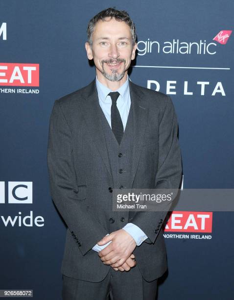 Stuart Wilson arrives to the Film Is GREAT Reception honoring British nominees of The 90th Annual Academy Awards held at The British Residence on...