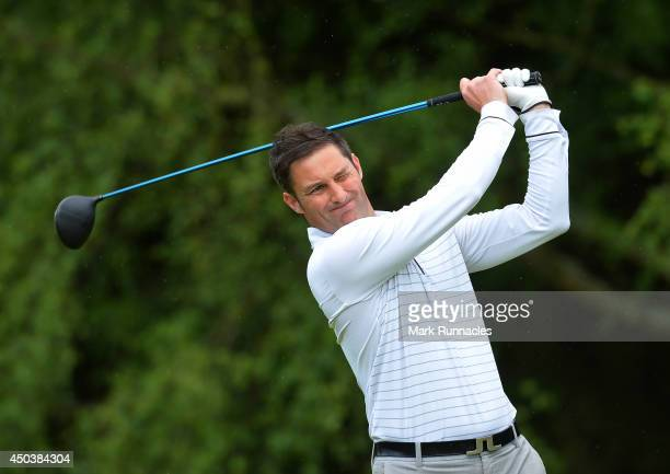 Stuart Wilson of Eastwood Golf Club on the 18th tee during the Lombard Trophy Scotland Regional Qualifier at Ladybank Golf Club on June 10 2014 in...