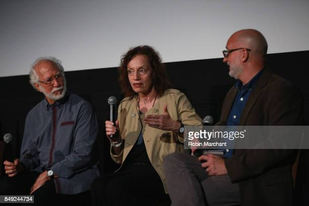 Stuart Wurtzel Hilary Rosenfeld and Joe Neumaier attend The Academy of Motion Picture Arts Sciences Metrograph Host THE BALLAD OF GREGORIO CORTEZ at...