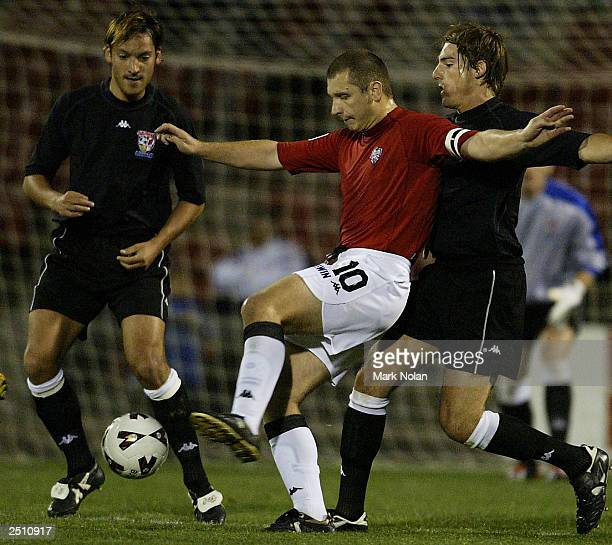 Stuart Young of the wollongong wolves in action during the opening round of the 2003 NSL season between the Wollongong Wolves and Sydney United at...
