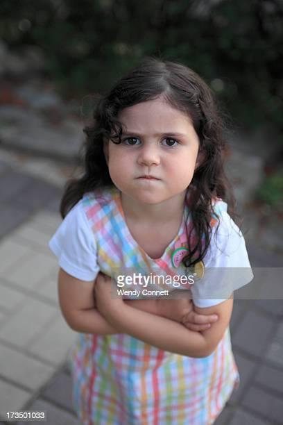 Stubborn, defiant little girl