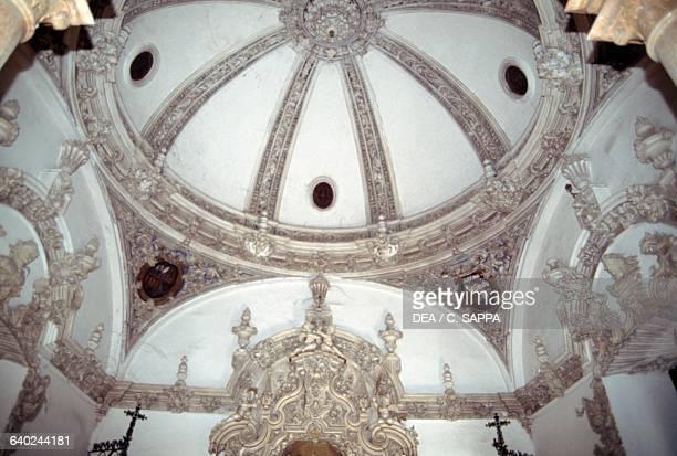 Stucco decorations inside Penaflor palace, 1700-1775, Ecija, Andalusia. Spain, 18th century.