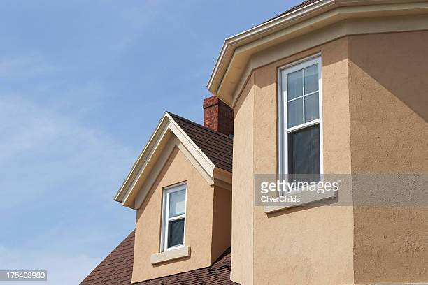 stucco house detail - stucco stock pictures, royalty-free photos & images