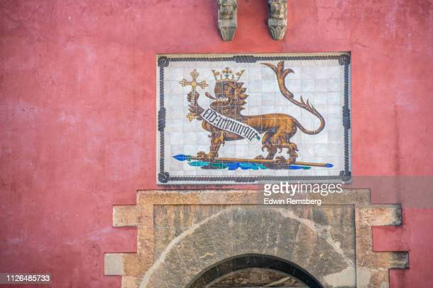 stucco painting - coat of arms stock pictures, royalty-free photos & images