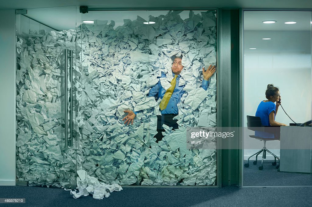 stuck at the office : Stock Photo