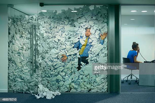 stuck at the office - stack stock photos and pictures
