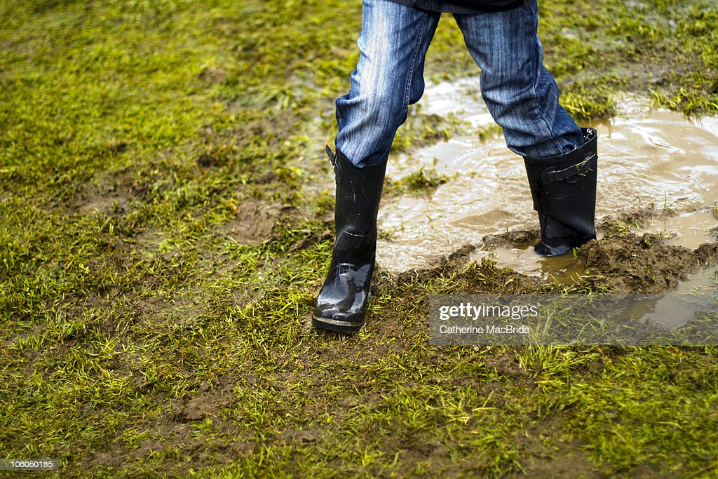 Stuck in a muddy puddle : Stock Photo