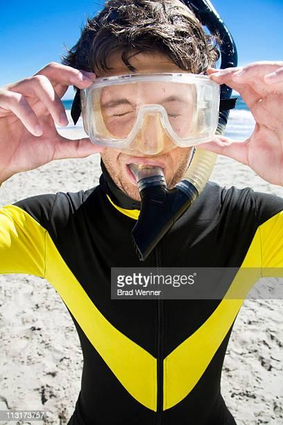 Stuck in snorkeling gear