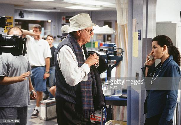 ER Stuck on You Episode 6 Air Date Pictured Harvey Korman as Stan Levy Julianna Margulies as Nurse Carol Hathaway Photo by Paul Drinkwater/NBCU Photo...