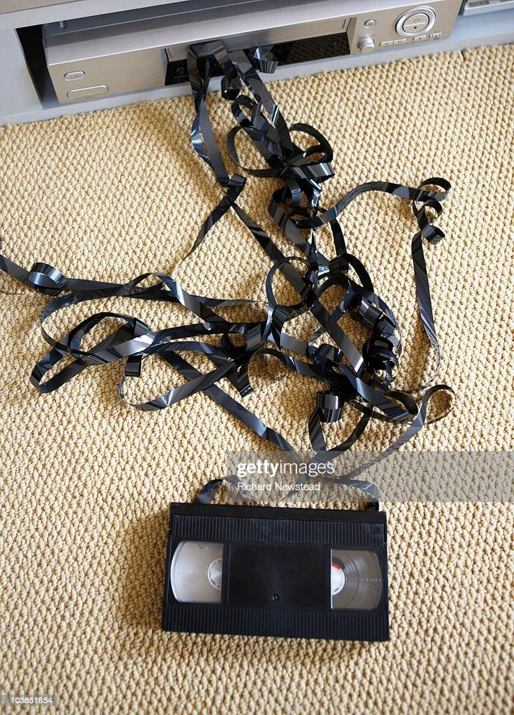 Stuck Video Tape : Stock Photo