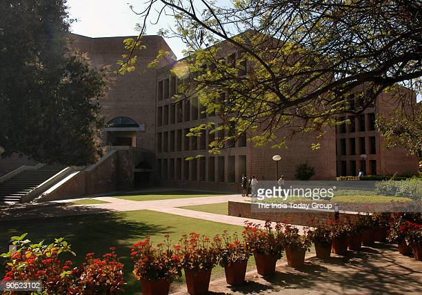 Studants at Indian Institute of Management campus in Ahmedabad Gujarat India