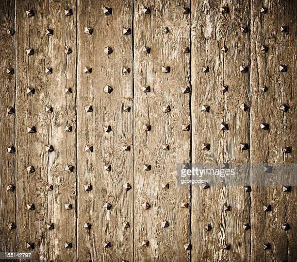 Studded Old Wood Surface