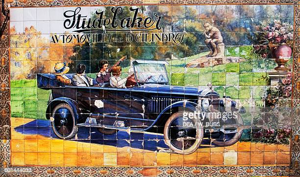 Studebaker car advertising azulejos Seville Andalusia Spain