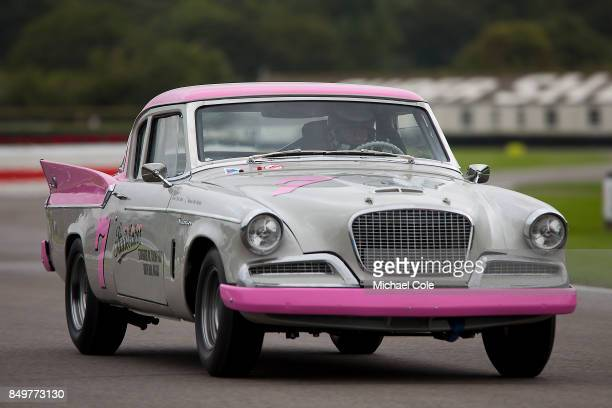 Studebaker Silver Hawk driven by entrant Patrick Watts in the St Mary's Trophy at Goodwood on September 8th 2017 in Chichester England