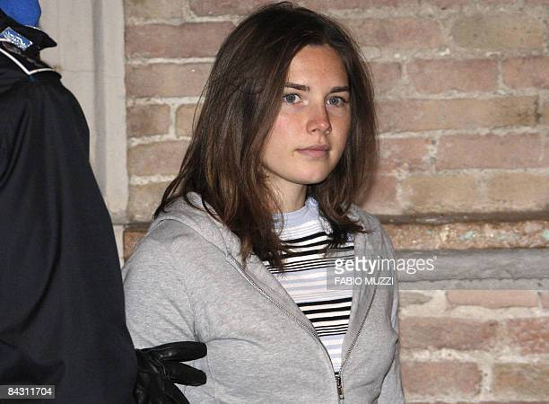 Student Amanda Knox arrives at court in Perugia, charged with the alleged sex-murder of her British housemate in the Italian university town of...