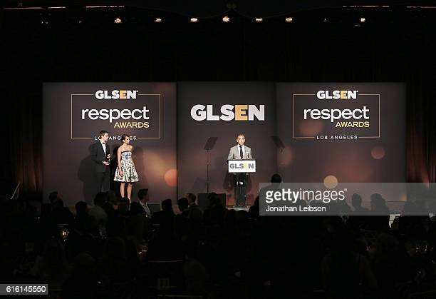 Student ambassador Matt Nadel actress Nina Dobrev and Senior VP of Brand and Category Marketing of Target Rick Gomez speak onstage during the 2016...