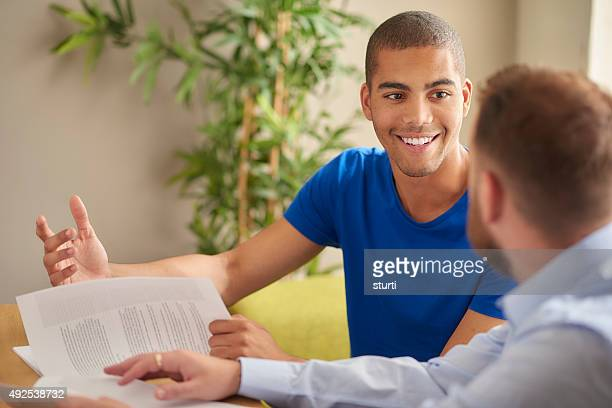 student and tutor one to one - guidance stock pictures, royalty-free photos & images