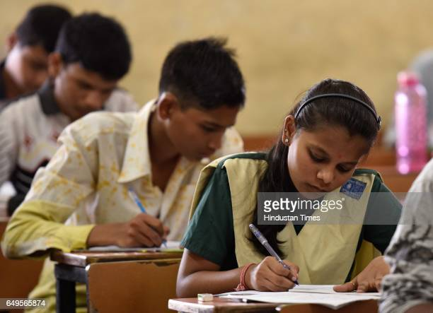 Student appears for the SSC Exam at Dahravi on March 7 2017 in Mumbai India With over 38 lakh students in Mumbai division appearing for Secondary...