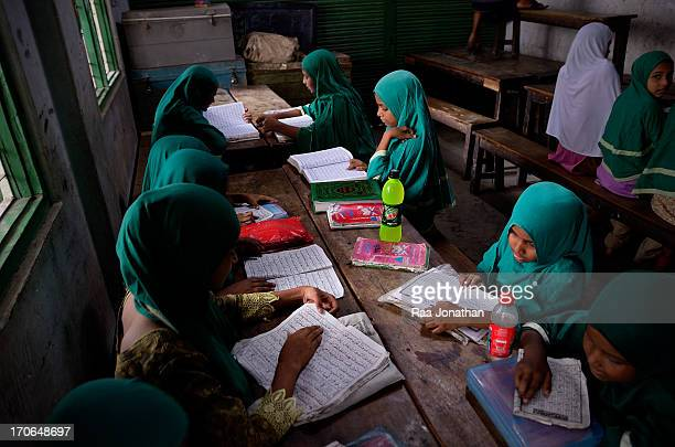 Student are learning Urdu in a local college for the children in the Geneva camp the Bihari are the Urdu speaking Muslim community in Bangladesh. At...