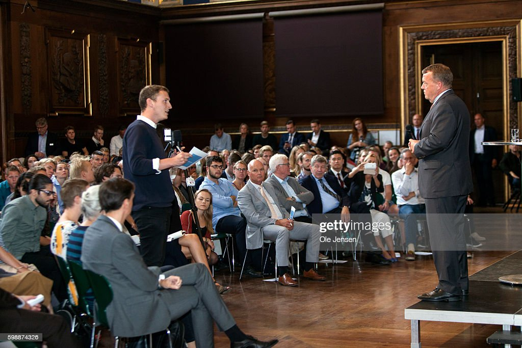 Danish PM Meets Students At Copenhagen University To Discuss His 2025-Plan. : News Photo