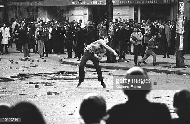 A student attacking the police in Paris during the May 1968 student uprising With the closing of the universities000 students found themselves in the...