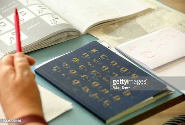 A student attends a Yiddish language course being taught during Yiddish Summer Weimar on July 27 2018 in Weimar Germany The annual fiveweek summer...