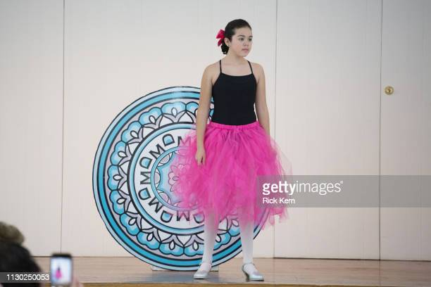 A student attends the Marisol Deluna Foundation Community Fashion Show at the San Antonio Garden Center on February 16 2019 in San Antonio Texas
