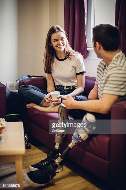 student catch up - quadriplegic stock photos and pictures