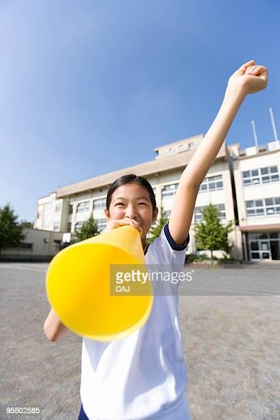 Student cheering
