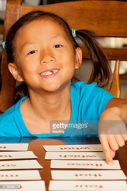 Student chooses sight word during tutoring session