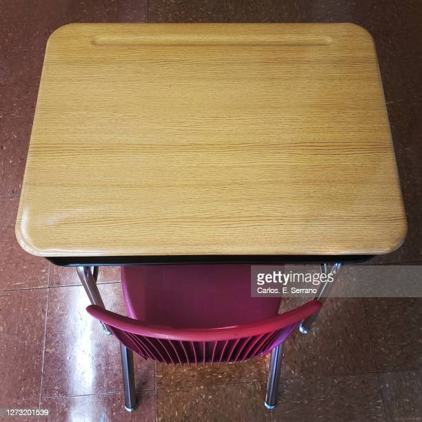 student classroom desk - yonkers stock pictures, royalty-free photos & images