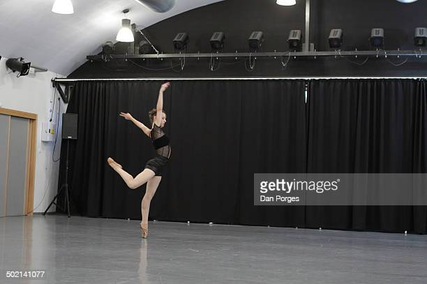 Student dancer Keren Notik from the Jerusalem Academy of Music and Dance performs 'Dance PS' which she also choreographed for the JAMD's Board of...