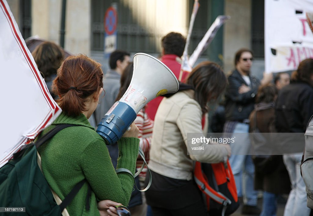 Student demonstration : Stock Photo