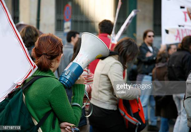 student demonstration - protestor stock pictures, royalty-free photos & images