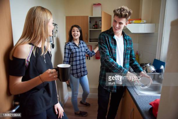 student flat mates - person in education stock pictures, royalty-free photos & images