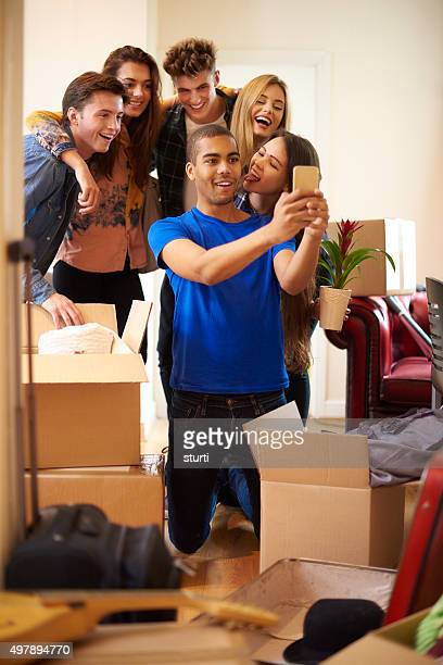 student flat roommate selfie